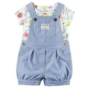 Carter's French Terry Overalls Shortalls Set